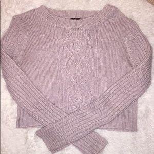Lavender Crop Top Sweater